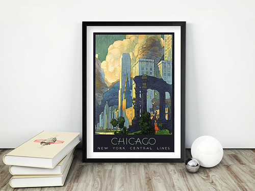 Vintage plakát Chicago