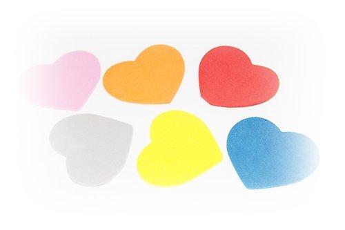 Pěnová guma-výseky - srdce 15ks