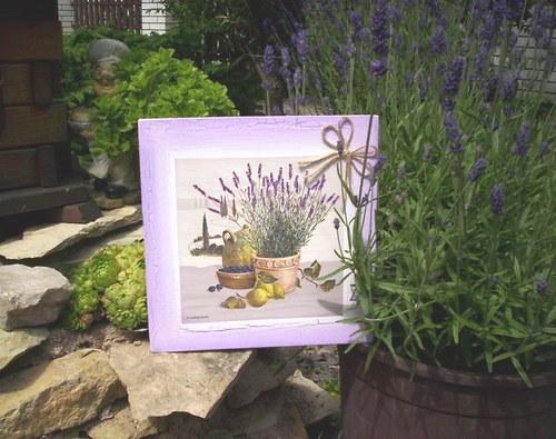 Levandulový obrázek 6 - levandulové zátiší
