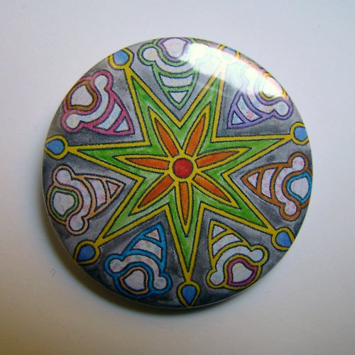 MANDALA 15 - placka - button - 44 mm