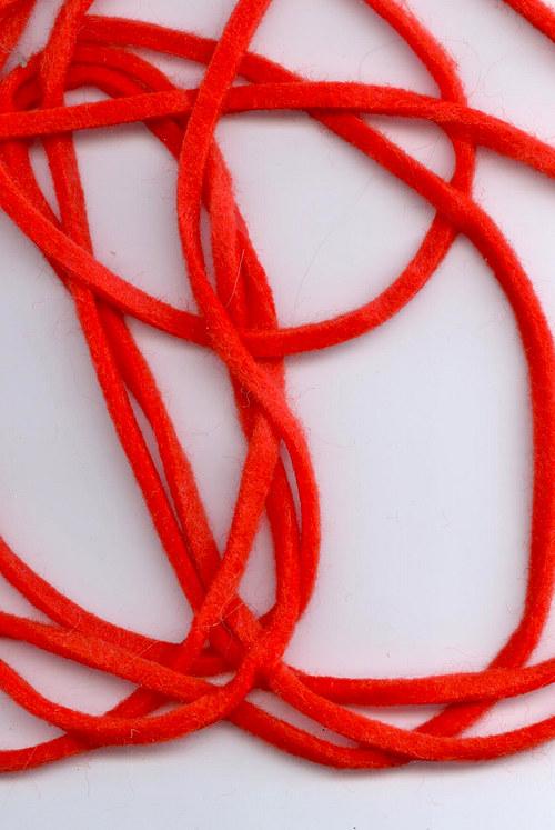 Stuha filcová červená