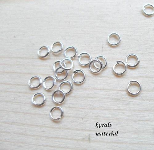 2112 Spojovací kroužek STŘÍBRNÝ 3  mm, 100 ks