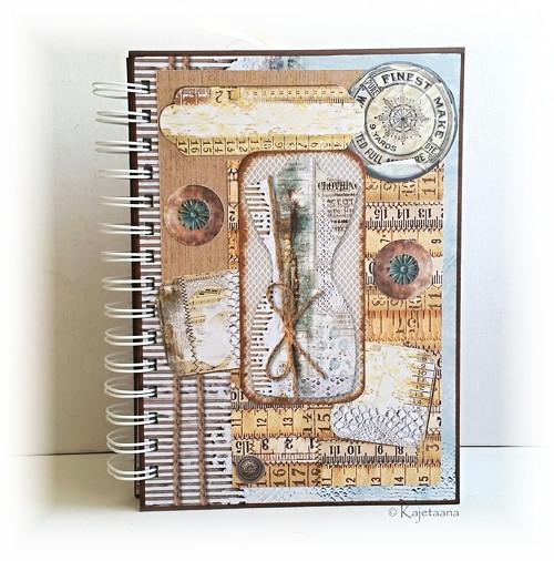 Deník pro švadlenku s magnetickou záložkou