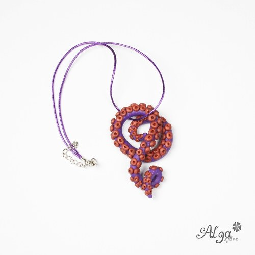 Náhrdelník Chapadlo fialové