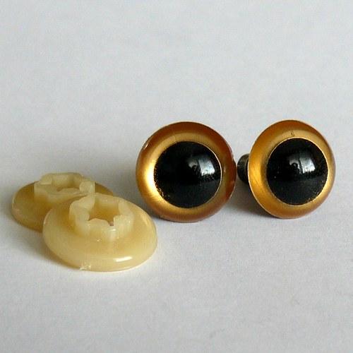 Bezpečnostní oči - zlatá, 14 mm