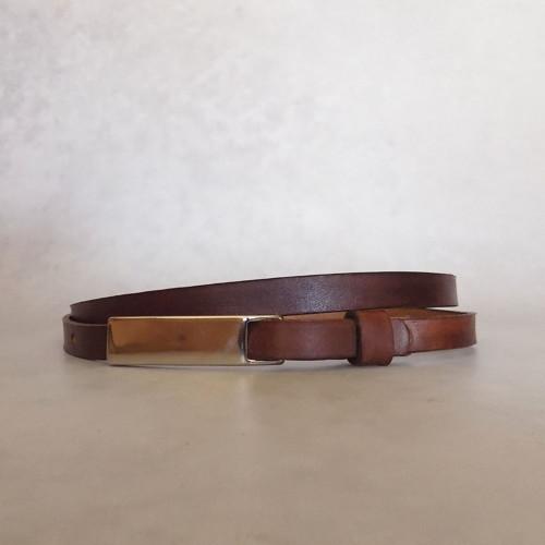 Kožený opasek 1cm