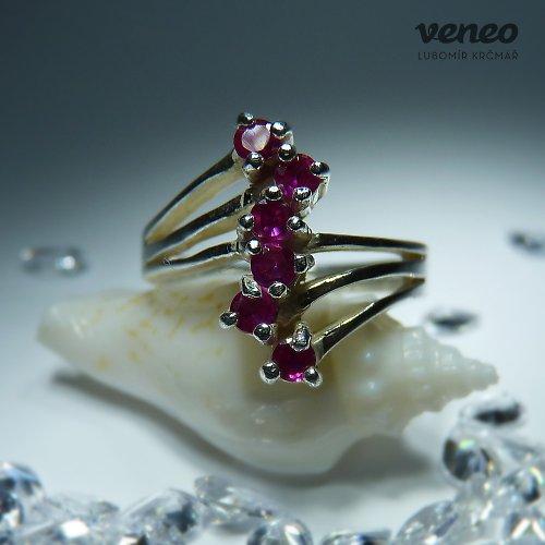 Verona - prsten s rubíny