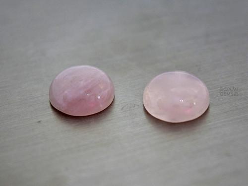 Přírodní růženín kabošon kulatý 12 mm