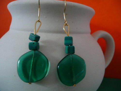 Zelené náušnice