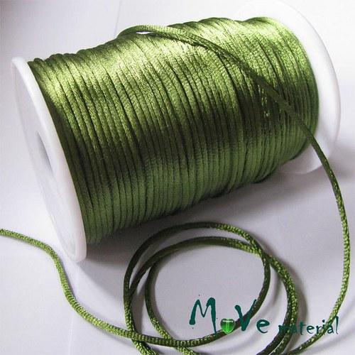 Šňůra Ø2mm olivově zelená,1m