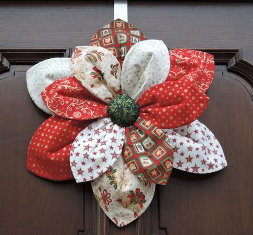 """Vánoční dekorace na dveře \""""Čas Vánoc\"""""""