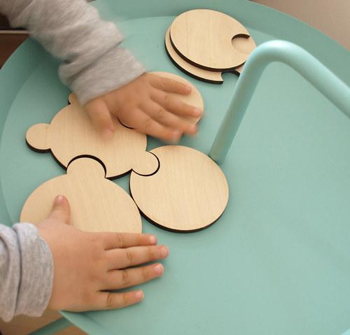 DOPRODEJ Podtácky puzzle kruhové