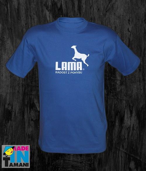 Pánské modré tričko s Lamou