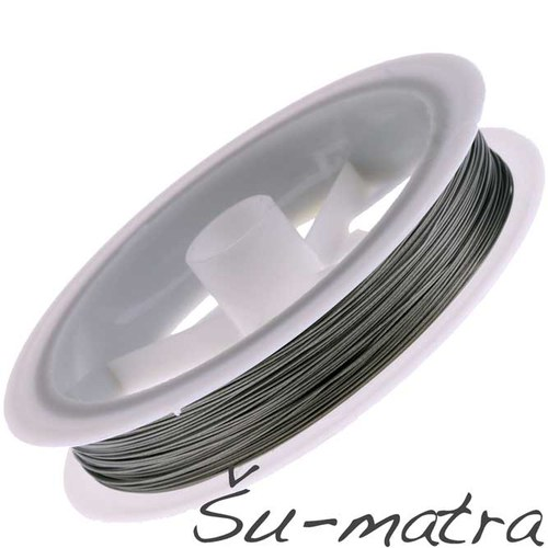 Bižuterní lanko šedé, 0,8 mm