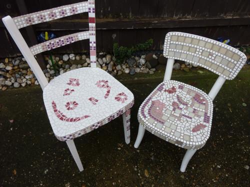 Mozaikové židličky