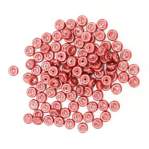 Skleněné DISKY 6x2mm - červená (100ks)