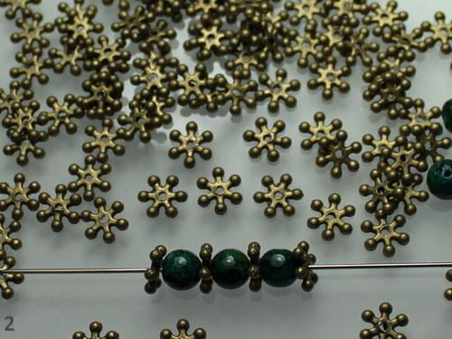 20497 Mezikorálky bronzové vločky, bal.20ks