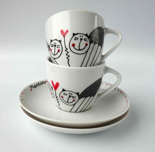 espresso hrníček - Kočičko, dáme kafíčko?