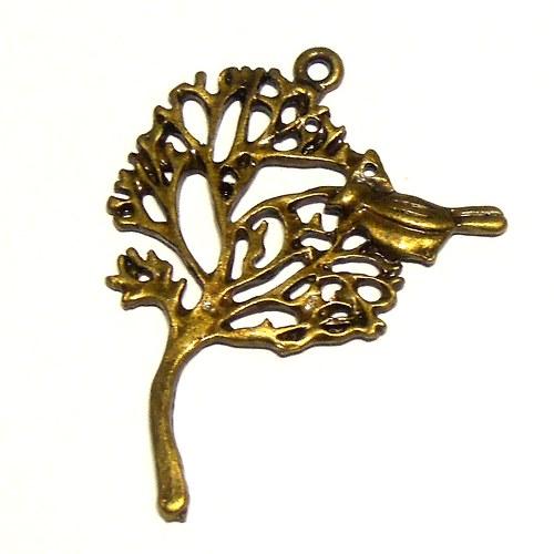 Strom s ptáčkem starobronz