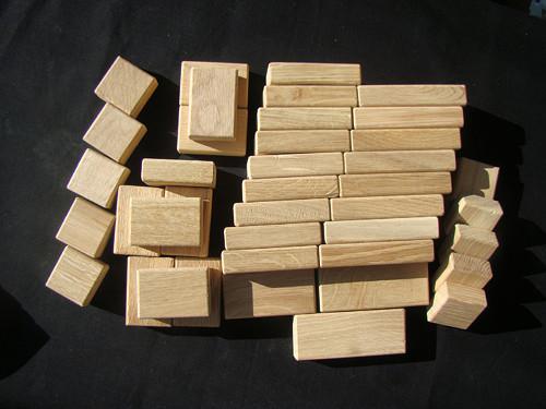 """Dřevěné kostky \"""" Kubík \""""  malá sada"""