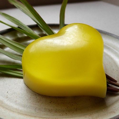 Mýdlové srdíčko baculaté_lemongrass