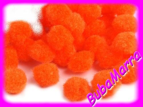 ~ 20ks ~ Bambulky ~ Ø13mm ~ oranžová