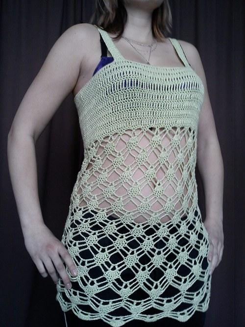 Háčkovaná tunika ,šaty  SLEVA z 1200
