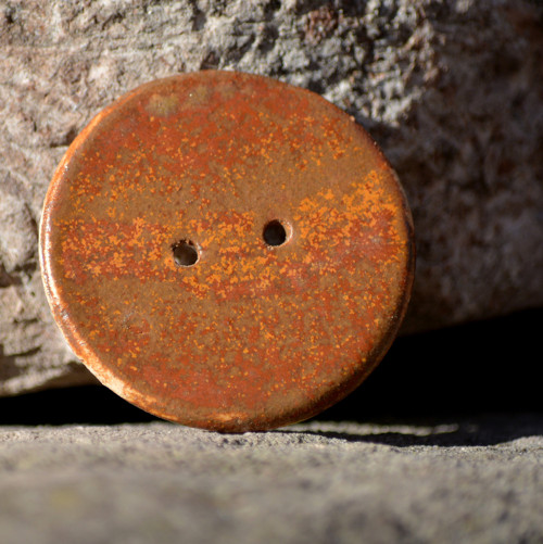 Kameninový knoflík Kolečko velké - Klasik