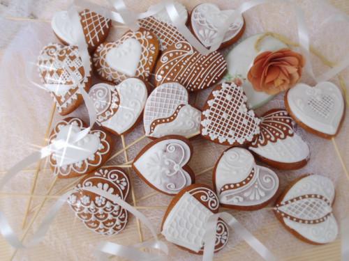 Svatební zápichy srdíčkové