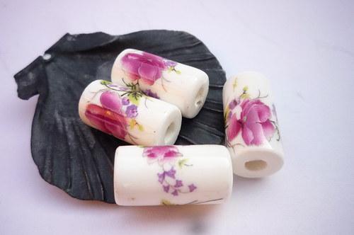 XL balení porcelánové válečky  10 ks - růže