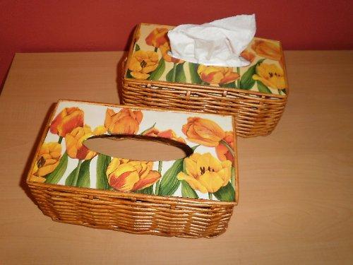 Poklop na kapesníky - tulipány (na 200ks)