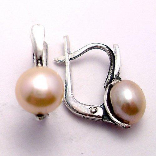 Náušnice «Milena» - přírodní  perla, Ag 925/1000