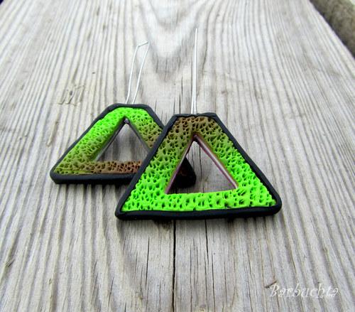 Náušnice Green Triangle