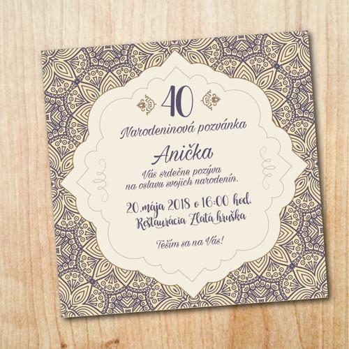Narozeninová pozvánka - Ornament