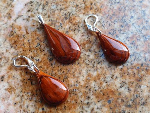 N A D Ě J E - set šperků z Palisandru Cocobolo