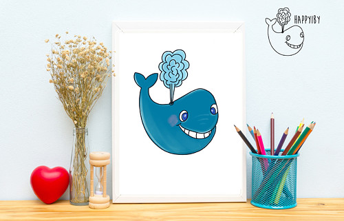 Velryba (vystínovaná)