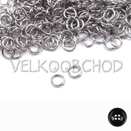 Spojovací kroužky pr.4 mm (500 ks) - platina