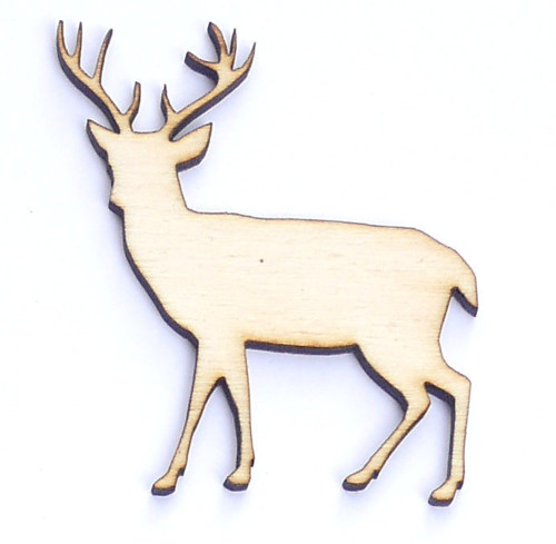 Jelen ze dřeva (obrys) - šíře 5 cm