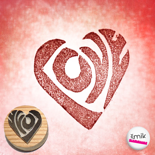 srdíčko Love – razítko