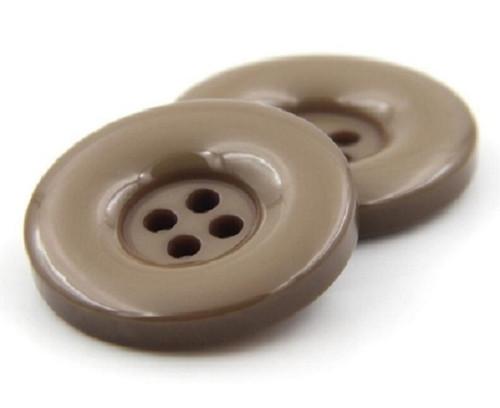 Plastový knoflík 15 mm 2 kusy béžový