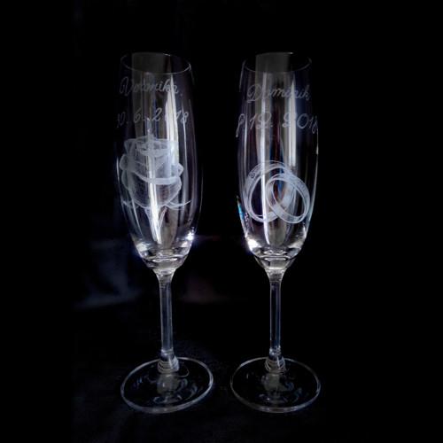 Svatební přípitkové sklenice