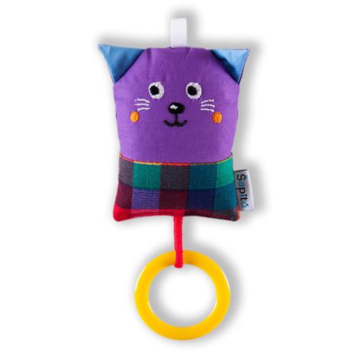 Minikocourek fialový - chrastítko