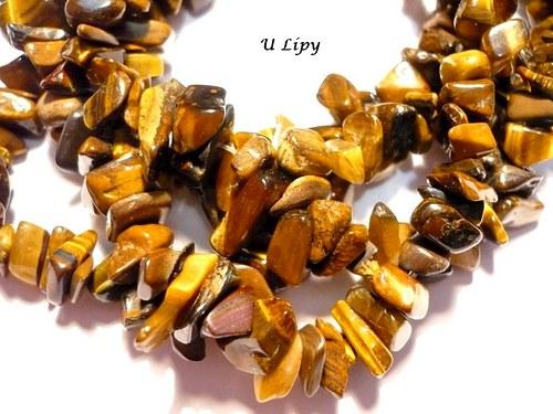 Minerální zlomky 45 cm - tygří oko