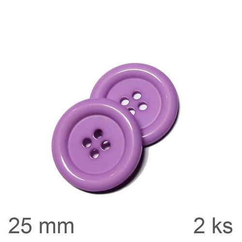 Knoflíky 25 mm světle fialové 2 ks