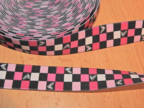 Šlová pruženka s potiskem šíře 25 mm