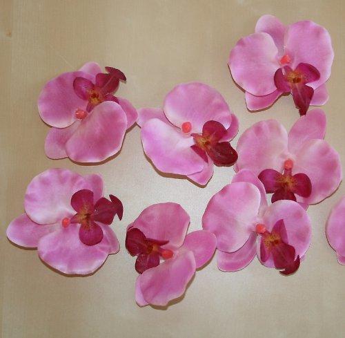 Umělá květina - Orchidej růžovovínová