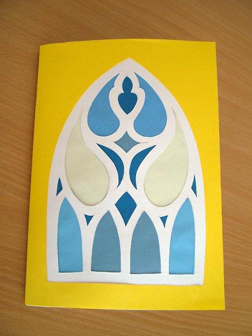 """zápisník pro dítko \""""gotika\"""" s návodem a šablonkou"""