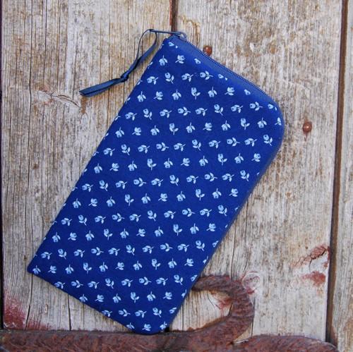obal na mobil se zipem základní-modrý