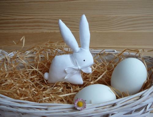Zajíček bílý, bílá mašle