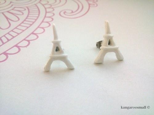 Eiffelovky - náušnice pecky z polymer. hmoty